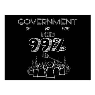 99% Occupy Wall Streetbewegung Postkarte