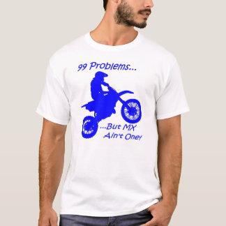 99 Probleme aber MX ist nicht eins! Blau auf Weiß T-Shirt