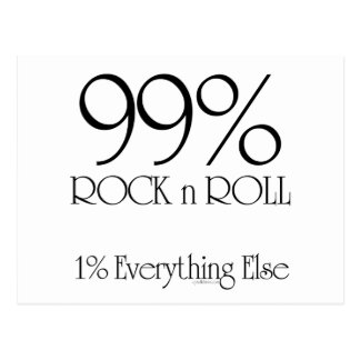 99% Rock'n'Roll Postkarte