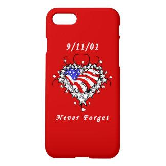 9/11/01 patriotische Tätowierung iPhone 8/7 Hülle
