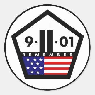 9-11-01 RUNDER AUFKLEBER