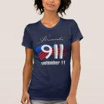 9/11 erinnern Sie sich am 11. September - an T-Shirts