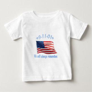 9-11 erinnern uns wir immer baby t-shirt