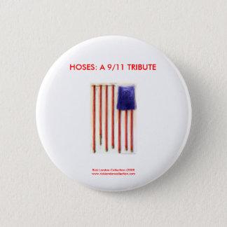 9/11 Flagge-Feuerwehrmann-Neuheits-Knopf Runder Button 5,1 Cm