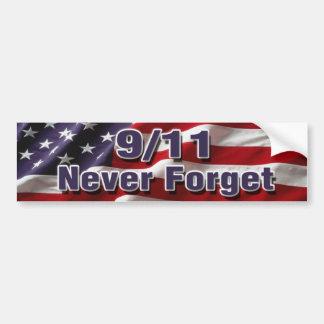 9 11 vergessen Sie nie Autoaufkleber