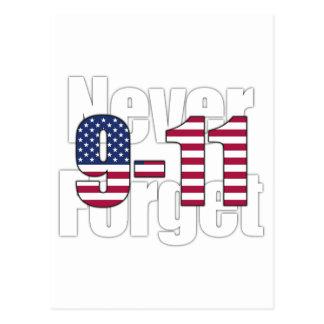 9-11 vergessen Sie nie Postkarte