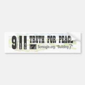 """9/11 Wahrheit für Frieden - Scroogle.org: """"Gebäude Autoaufkleber"""