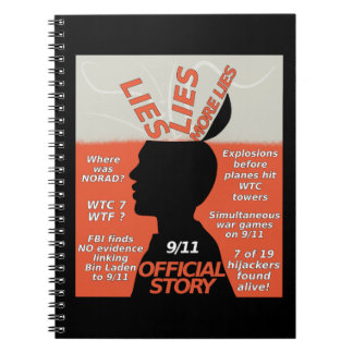 9-11 Wahrheits-offizielle Geschichten-Lügen Spiral Notizblock