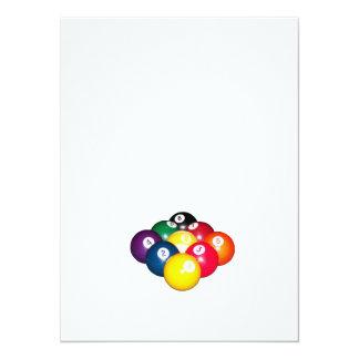 9 Ball-Gestell 14 X 19,5 Cm Einladungskarte