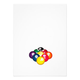 9 Ball-Gestell Einladungen