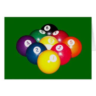 9 Ball-Gestell Karten