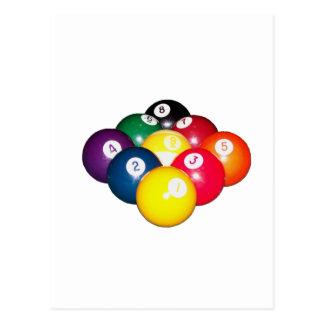 9 Ball-Gestell Postkarte