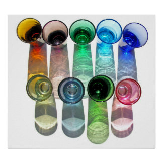 9 farbige Cocktail-Schnapsglas e-ähnlich 9 Plakate