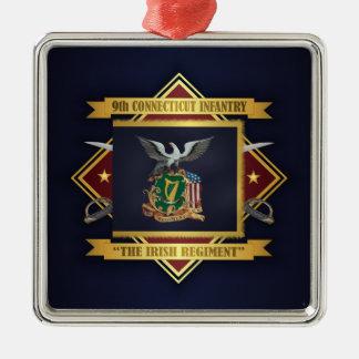 9. Freiwillige Infanterie Connecticuts Silbernes Ornament