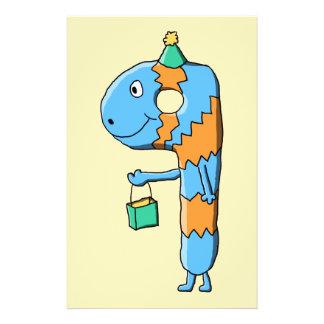9. Geburtstags-Cartoon-Monster Bedruckte Flyer