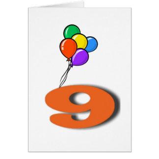9 Geburtstags-Einladungs-Karte Karte