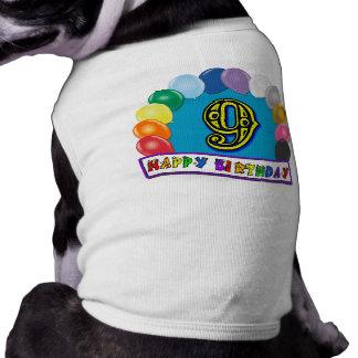 9. Geburtstags-Geschenke mit sortiertem Ballon-Ent Hund Tshirts