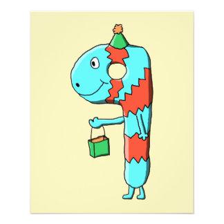 9. Geburtstags-Karikatur Flyerdruck