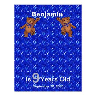9. Geburtstags-Tanzen-Bärn-Einklebebuch-Papier 1 21,6 X 27,9 Cm Flyer