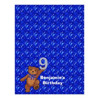 9. Geburtstags-Tanzen-Bärn-Einklebebuch-Papier 3 Flyer Druck