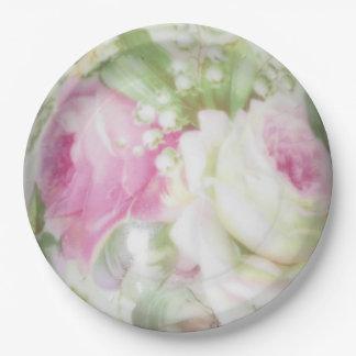 """9"""" Lilly Rosen-BlumenpapierTeller Pappteller"""