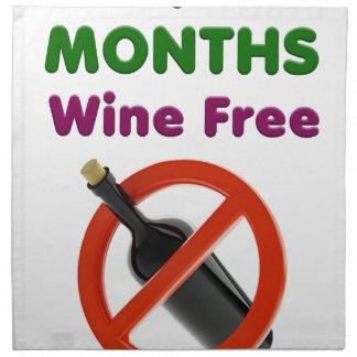 9 Monate Wein geben, schwangere Frau, Stoffserviette