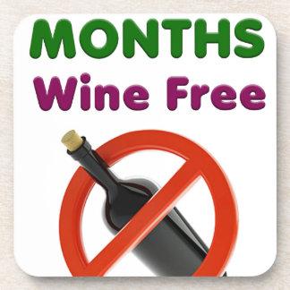9 Monate Wein geben, schwangere Frau, Untersetzer