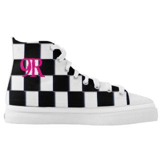 9 Rosen Hoch-geschnittene Sneaker