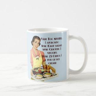 9am Eiscreme-Diät-Tasse Retro Kaffeetasse