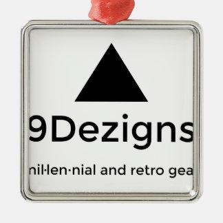 9Dezigns tausendjähriger und Retro Gang Quadratisches Silberfarbenes Ornament