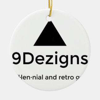 9Dezigns tausendjähriger und Retro Gang Rundes Keramik Ornament