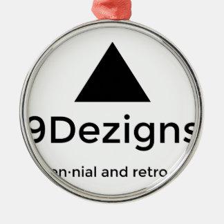9Dezigns tausendjähriger und Retro Gang Rundes Silberfarbenes Ornament