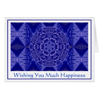 A001 Schneeflocke Mandala.Blue.Customizable.Card 2 Grußkarte