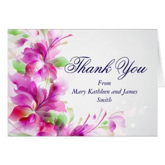 A2-Pink Frühlings-Blumenmuster danken Ihnen zu Karte