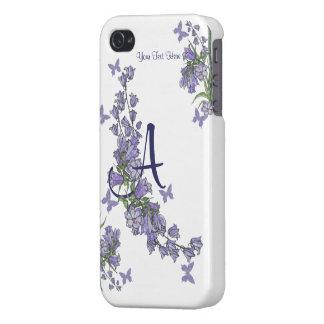 A - Blaue Bell u. Schmetterlings-Fall ausgebuffter iPhone 4 Hüllen