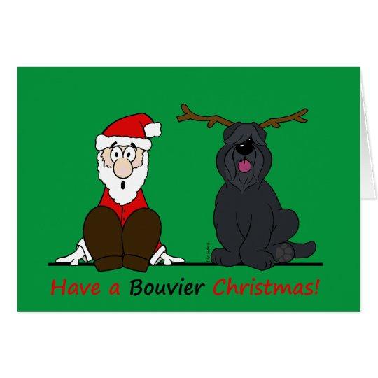 A Bouvier Christmas Karte