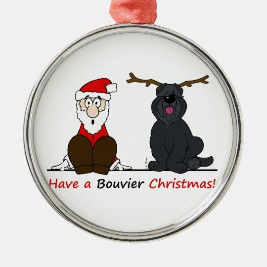 A Bouvier Christmas Silbernes Ornament