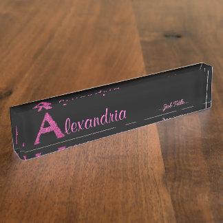 A - Das Falck Alphabet (Rosa) Namensplakette