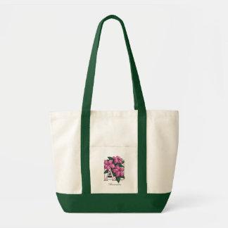 A für Azaleen-Blumen-Monogramm-Tasche Tragetasche