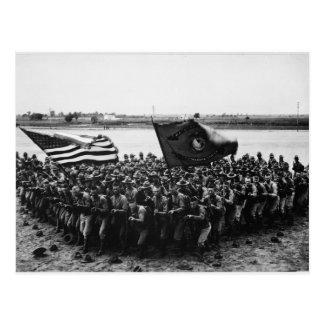 A-Gruppe Weltkrieg-Marinesoldaten zuerst kämpfen Postkarte