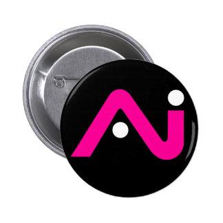 A.i. Retro Knopf-Rosa-Logo Runder Button 5,7 Cm