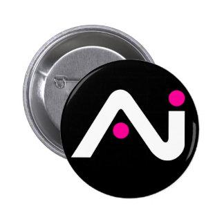 A.i. Retro Knopf-Weiß-Logo Runder Button 5,7 Cm