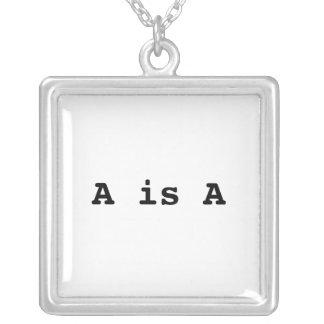 A ist A = das Gesetz der Identität Versilberte Kette