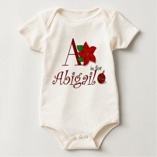 A ist für Abigail, erster T - Shirt des Babys