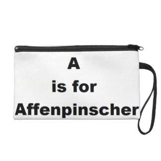 a ist für Affenpinscher Wristlet Handtasche