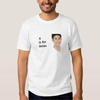 A ist für Asiaten Tshirt