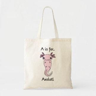 A ist für Axolotl-Taschen-Tasche Budget Stoffbeutel