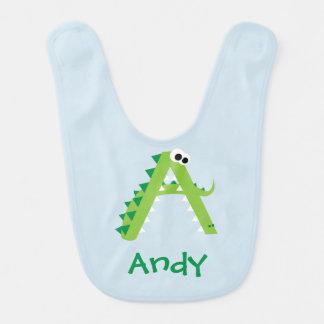 A ist für den niedlichen Alligator Babylätzchen