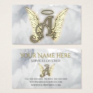 A ist für Engels-Alphabet-Buchstabe-Initiale Visitenkarte