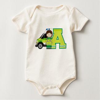 A ist für Krankenwagen Baby Strampler